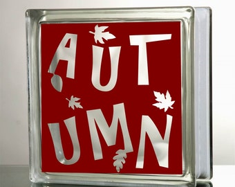 Autumn Glass Block Decal Tile Mirrors DIY Decal for Glass Blocks Autumn