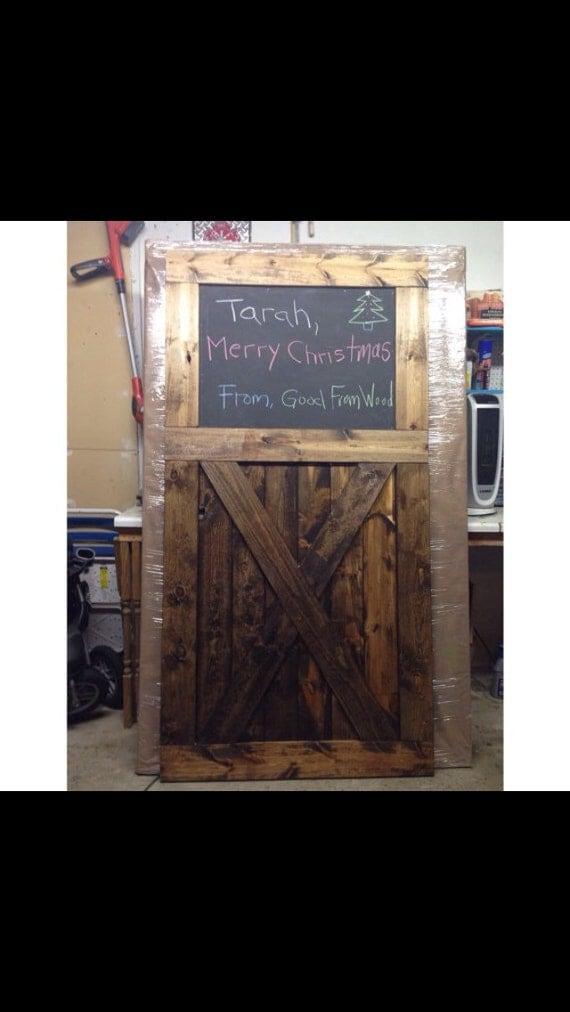 Antigue Door Chalkboard : Chalkboard vintage sliding barn doors by goodfromwood on etsy