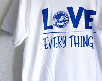 LOVE over EVERYTHING mens cotton t-shirt