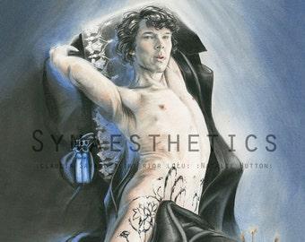 "Sherlock, Benedict Cumberbatch ""Black Lotus"" - Digital Postcard Print A6"