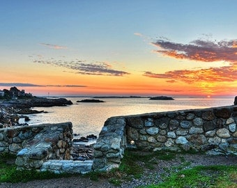 Sunrise over Castle Rock in Marblehead MA, Sunrise photography, North Shore, Massachusetts