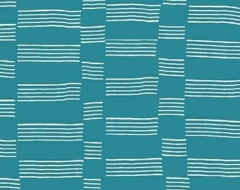 One Yard - 1 Yard - Etapp in Caribbean Blue - LUCKY by Lotta Jansdotter for Windham Fabrics