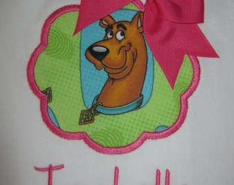 Scooby Doo Personalized Birthday Shirt for girls
