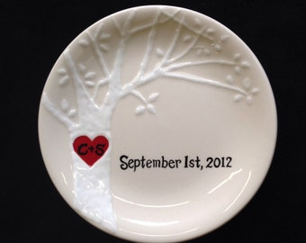Personalized ring dish, Engagement gift, Wedding gift, Valentine's day gift- ring holder, custom ring dish,Valentine's Day