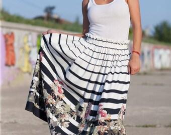 Extravagant Maxi Dress/ Off Shoulder Plus Size Dress/Versatile Dress/Long Skirt/Maxi Skirt