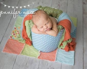 Newborn Baby Photography Prop Rag Quilt