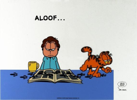 Jim Davis Aloof.... Garfield 1978 Limited Sericel by GallArt