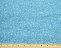 RJR Fabric Lovebirds Blue with small white flower outlines 100 percent premium cotton fabric RJR030