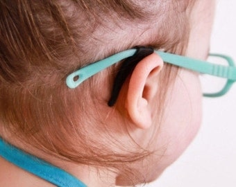 Black Stay Puts Ear Lock for Kids Glasses or Adult Glasses to Prevent Slipping - Frames, Sunglasses, Eyeglasses, Kids Frames,