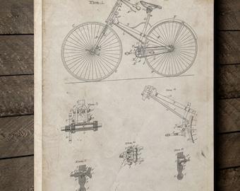 Bicycle 1890 Break and Frame Canvas Art, Vintage Bicycle, Bicycle Canvas, Bicycle Art, Canvas Wall Decor, PP0248