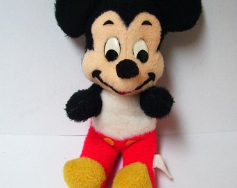 1970s Mickey Mouse Baby Plush 16 inch Doll Vintage Disney