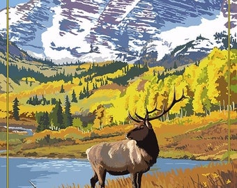 Maroon Bells - Rocky Mountain National Park (Art Prints available in multiple sizes)