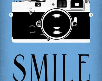 Smile - Camera (Art Prints available in multiple sizes)