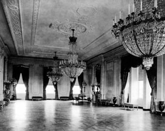 Chandeliers in East Parlor of White House Photograph (Art Prints available in multiple sizes)
