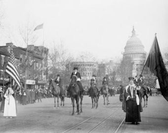 The Head of the Women's Suffrage Parade Photograph (Art Prints available in multiple sizes)