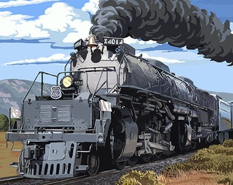 Steam Locomotive (Art Prints available in multiple sizes)