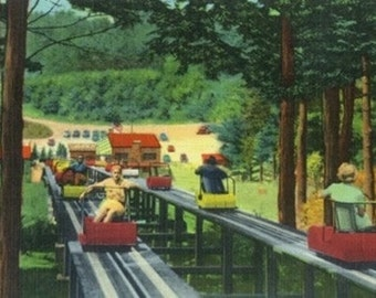 North Conway, New Hampshire - Cranmore Mountain Ski-Mobile in Summertime (Art Prints available in multiple sizes)