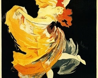 Loie Fuller at the Folies-Bergere Theatre (Art Prints available in multiple sizes)