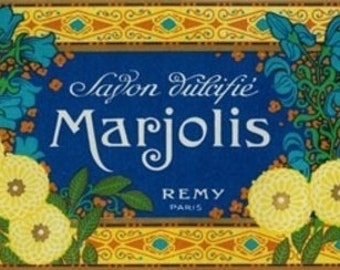 Marjolis Soap Label (Art Prints available in multiple sizes)