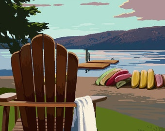 Adirondack Chairs (Art Prints available in multiple sizes)