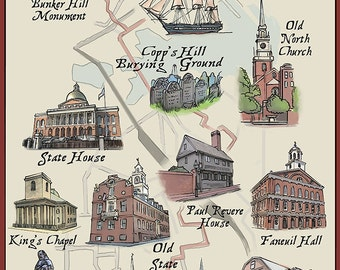 The Freedom Trail - Boston, MA (Art Prints available in multiple sizes)