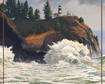 Cape Disappointment Lighthouse - The Columbia-Pacific Coast (Art Prints available in multiple sizes)