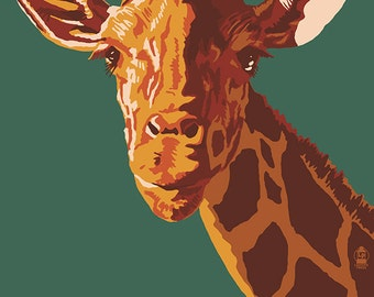 Giraffe Up Close - Visit the Zoo (Art Prints available in multiple sizes)