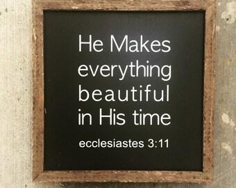 Ecclesiastes 3:11 sign