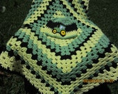 Crochet Pattern For John Deere Afghan : Items similar to SALE Crochet Baby Blanket Afghan Green ...