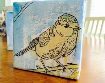 Yellow Bird  Original Watercolor Painting