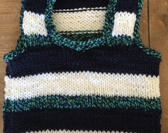 Striped baby vest (6 months)