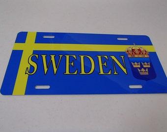 Sweden Norway Finland Denmark License Plate