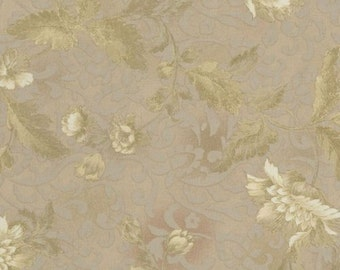 RJR Fabrics Chelsea 2100 41 Peony on Damask Natural Yardage by Jinny Beyer