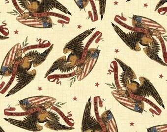 Windham Fabrics Freedom 38904 Vintage Eagles with Stars Yardage