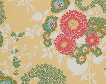 Womens Robe. Long Kimono robe. XS - Plus Sizes. Dressing gown. Bathrobe. Maternity robe. Hospital gown. Floral cotton robe. BTQ Yellow Coral