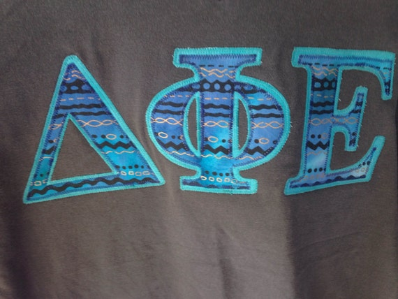 Delta Phi Epsilon Sorority Stitch Shirt Greek Letter Shirt V