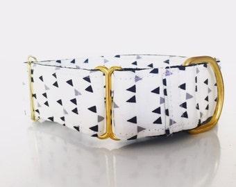 "Adjustable Martingale dog collar ""Confetti noir"""