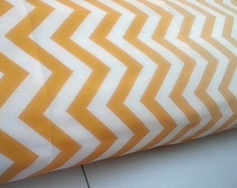Body Pillow Cover Chevron Zig Zag Corn Yellow White Cotton with Hidden Zipper