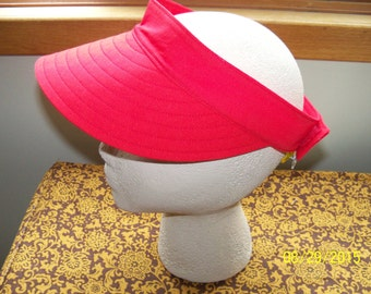 Red Sun VIsor Hat / Garden Hat / Sun Hat