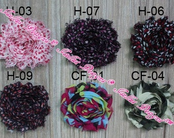 "6 Piece 2.5"" Printed H-06 Shabby Flower"