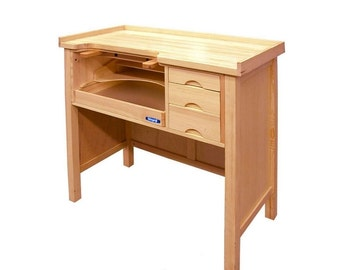 Professional Workbench Jeweler's Heavy-Duty Solid Wood Table Crafts Benches Tool. 140-083