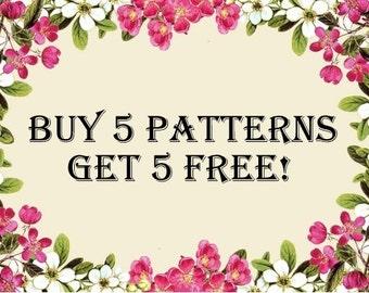 Cross stitch pattern, action!!! Buy 5 patterns get 5 free!!!