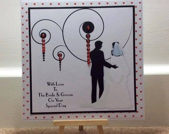 Bride & Groom Wedding Card * Personalised Wedding Card * Wedding Card * Wedding Day Card * Handmade Wedding Card * Wedding Congratulations *