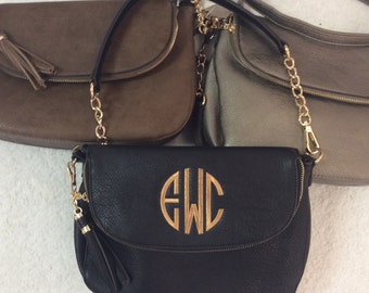 Georgeous Monogrammed Handbag -- Can Be Worn As Crossbody or Over Shoulder!
