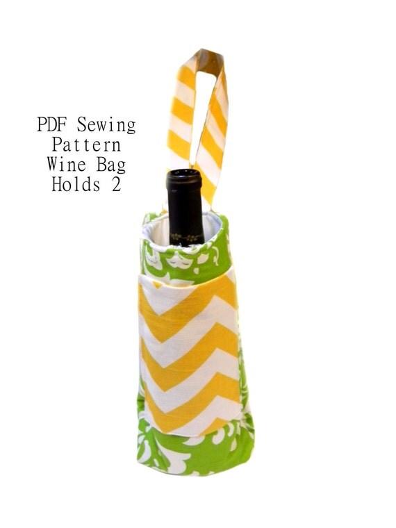 Wine Tote Bag Pattern 37