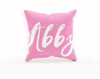 Name Pillow, Girl Nursery Decor, Monogram Girls, Tween Gifts, Custom Nursery Decor, Personalized Baby Gifts, Baby Gift, Gifts for Girls
