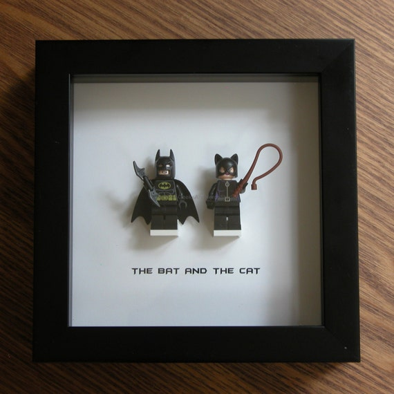 superhero wall art lego wall art batman and catwoman. Black Bedroom Furniture Sets. Home Design Ideas