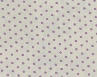 Mas d'Ousvan - Dot Grey Purple - 1/2yd
