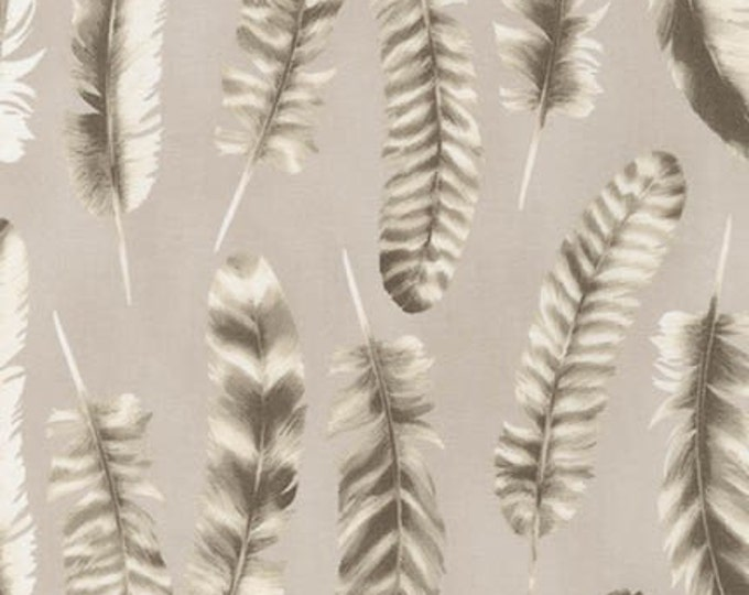 Black and White Ash Feather - 1/2yd
