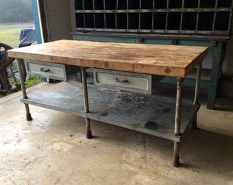 Vintage Industrial Bakery Table ***Local Pickup Only***